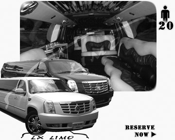 Cadillac Escalade 20 passenger SUV Limousine for rental in Colorado Springs, CO