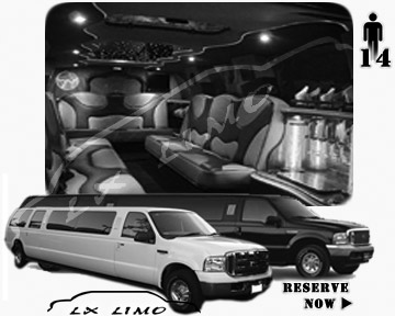 Lincoln Excursion SUV Limo for hire in Colorado Springs, CO